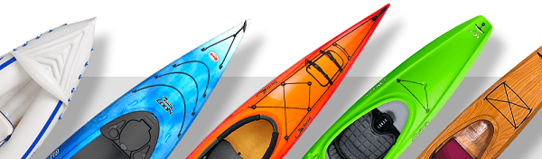 Different kayak materials.